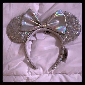Silver Minnie Ears NWT